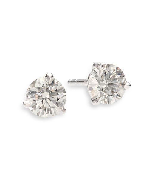 Kwiat | White Diamond & Platinum Stud Earrings/1.25 Tcw | Lyst