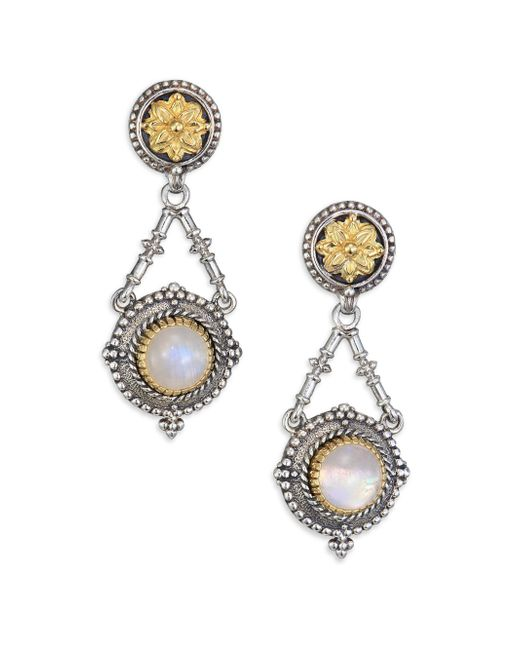 Konstantino | Metallic 'aegean' Drop Earrings | Lyst