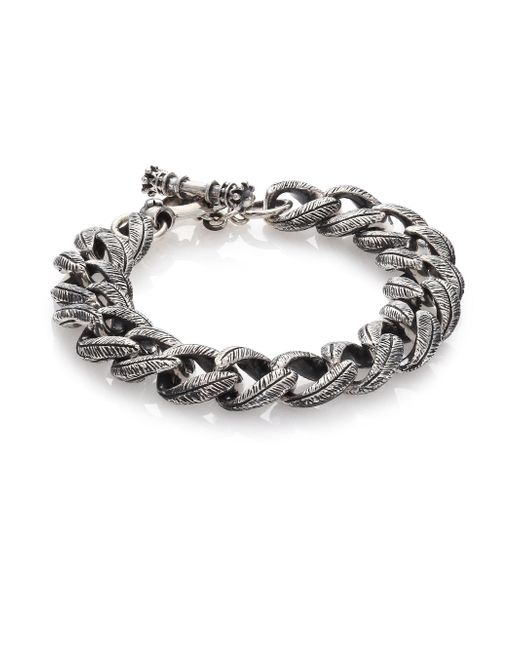 King Baby Studio | Metallic Small Feather Carved Link Bracelet | Lyst