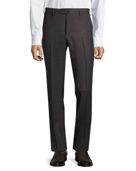PT01 | Gray Solid Stretch Trousers for Men | Lyst