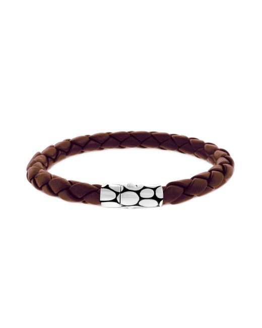 John Hardy - Brown Woven Leather Bracelet for Men - Lyst