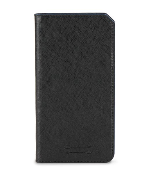 Uri Minkoff - Black Saffiano Leather Folio Iphone 7+ Case - Lyst