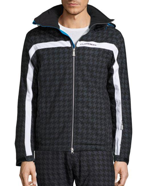 J.Lindeberg   Multicolor Sitkin Waterproof Houndstooth Jacket for Men   Lyst