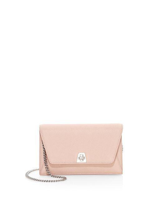 Akris - Pink Anouk Mini Leather Envelope Clutch - Lyst