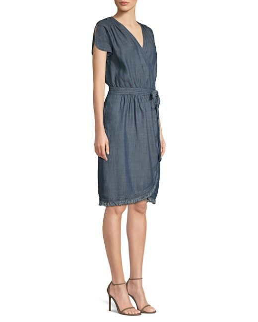 Trina Turk - Blue Morina Chambray Wrap Dress - Lyst