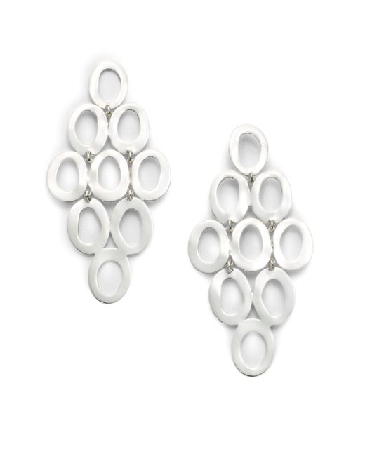 Ippolita | Metallic Glamazon Sterling Silver Open Oval Cascade Earrings | Lyst