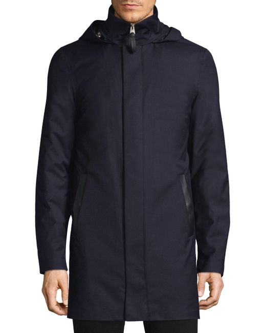 Mackage - Blue Hooded Down Coat for Men - Lyst