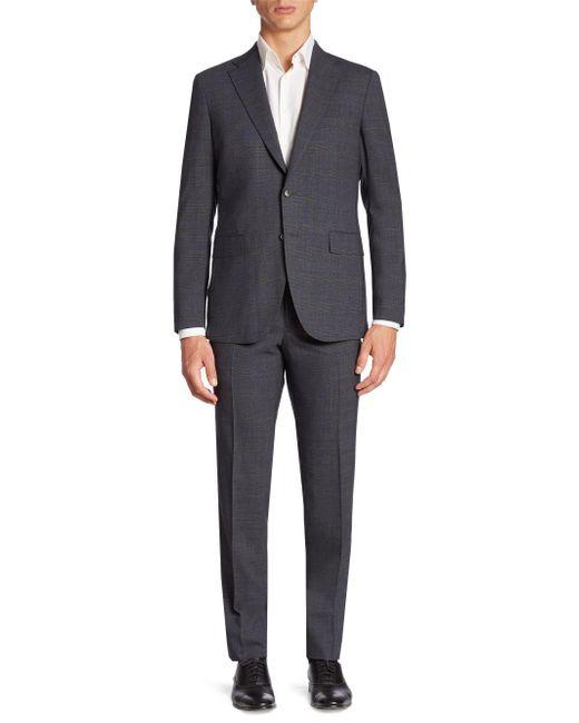 Boglioli - Gray Textured Wool-blend Suit for Men - Lyst