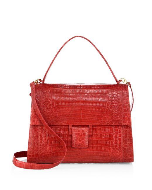 Nancy Gonzalez - Red Medium Kelly Crocodile Top-handle Bag - Lyst