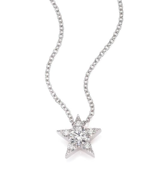 Hearts On Fire - Illa Diamond & 18k White Gold Cluster Pendant Necklace - Lyst
