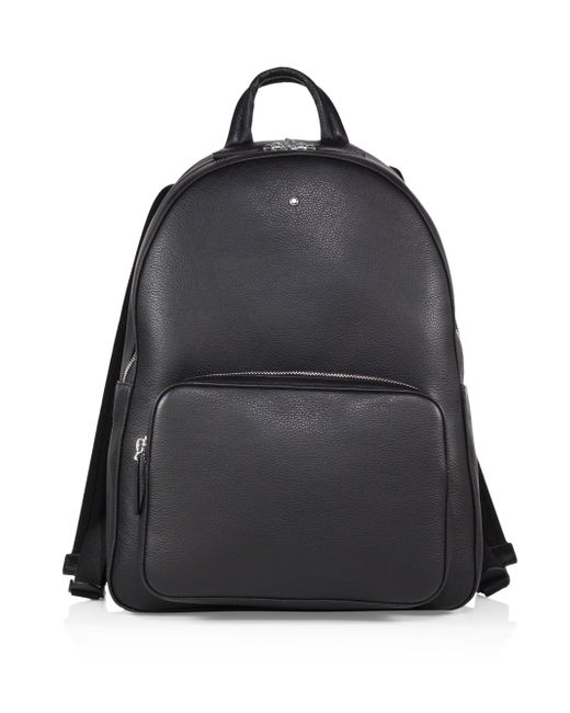 Montblanc Black Soft Grain Leather Backpack for men