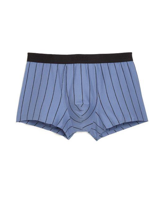 Hanro | Blue Striped Cotton Boxer Briefs for Men | Lyst