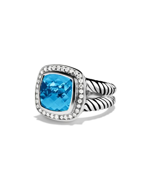 David Yurman | Blue Albion Ring With Diamonds | Lyst