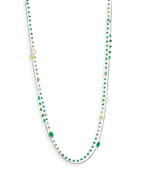David Yurman - Multicolor Bead Layering Necklace - Lyst
