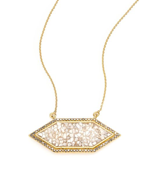 Shana Gulati | Metallic Charushila Shashi Black Diamond Pendant Necklace | Lyst