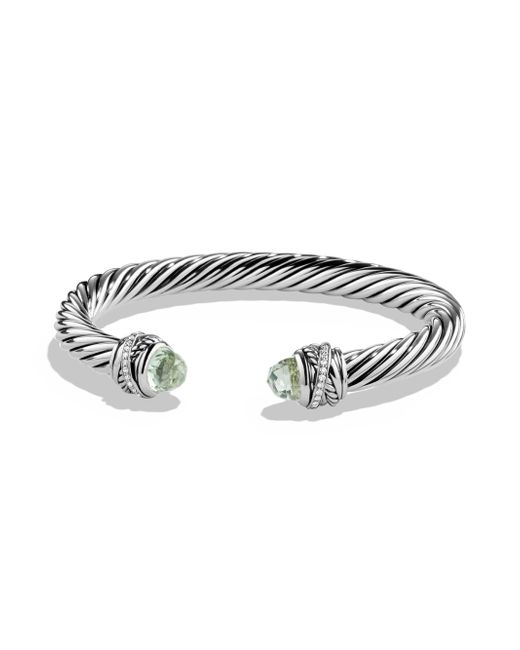 David Yurman - Metallic Crossover Bracelet With Diamonds - Lyst