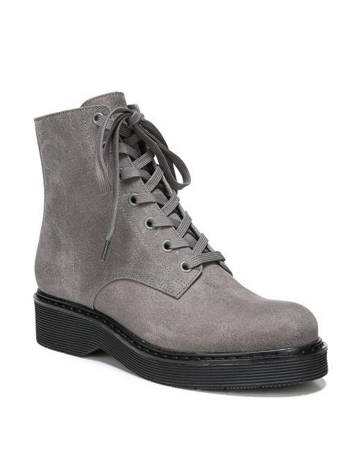 Vince - Gray Monastir Straus Suede Combat Boots - Lyst