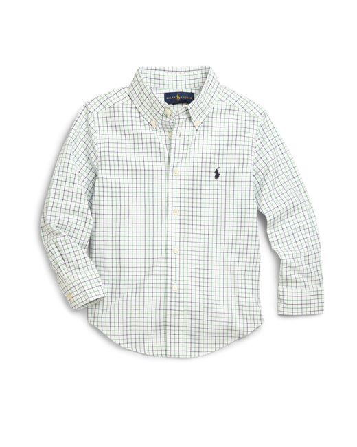 Ralph Lauren - Green Little Boy's Tattersall Dress Shirt for Men - Lyst