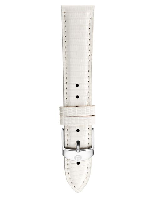 Michele Watches - Women's Lizard Watch Strap/18mm - White - Lyst