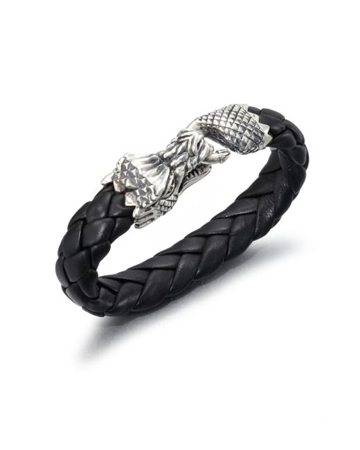King Baby Studio - Black Leather Bracelet for Men - Lyst