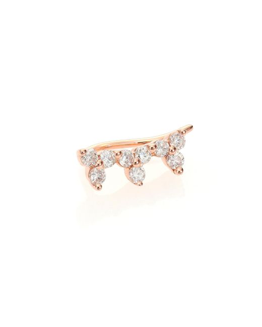EF Collection | Pink Diamond & 14k Rose Gold Single Ear Cuff | Lyst