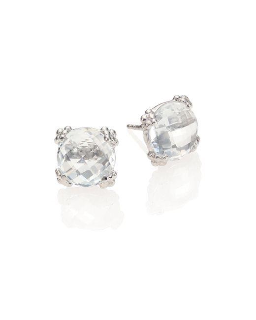 Anzie - Dew Drop White Topaz Stud Earrings - Lyst