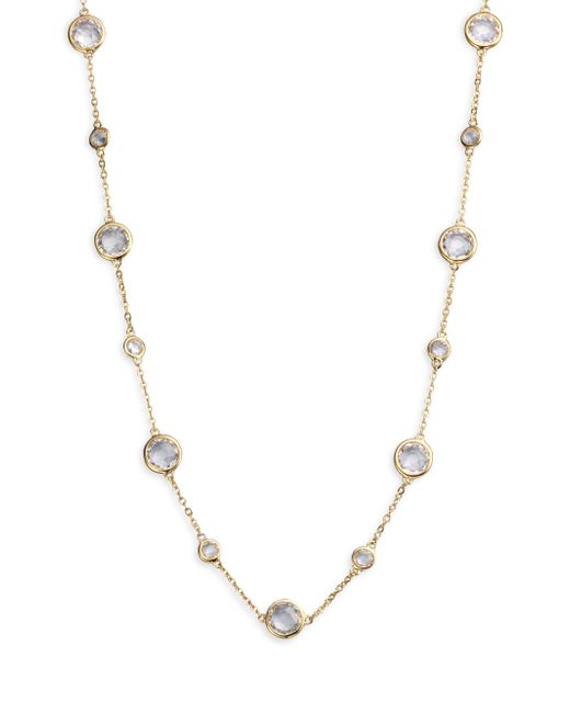 Adriana Orsini - Metallic Stationed Bezel-set Necklace - Lyst