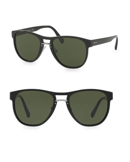 Prada - Black 55mm Wayfarer Sunglasses - Lyst