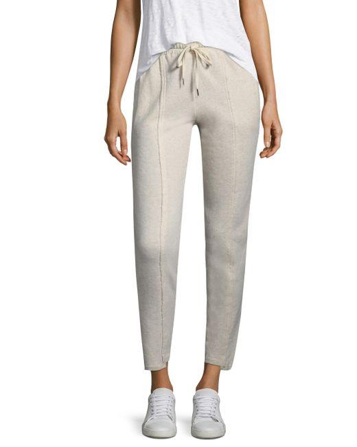 Splendid | Natural Cotton Track Pants | Lyst
