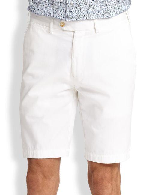Saks Fifth Avenue - White Cotton Oxford Shorts for Men - Lyst