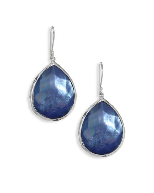 Ippolita - Metallic 925 Rock Candy Blue Topaz Teardrop Earrings - Lyst