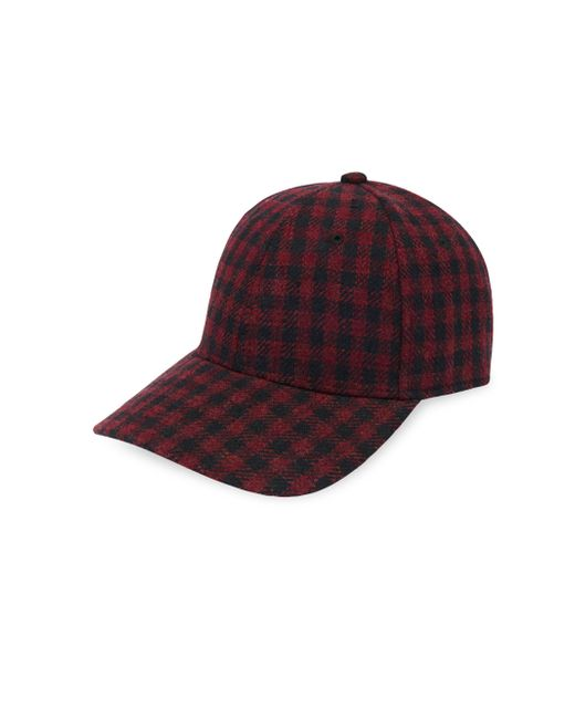 Gents - Red Executive Plaid Baseball Cap for Men - Lyst