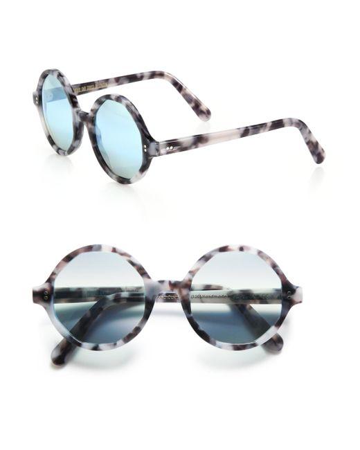 Cutler & Gross - Natural 52mm Marbleized Round Sunglasses - Lyst