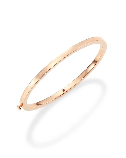 Roberto Coin - Metallic 18k Rose Gold Oval Bangle Bracelet - Lyst
