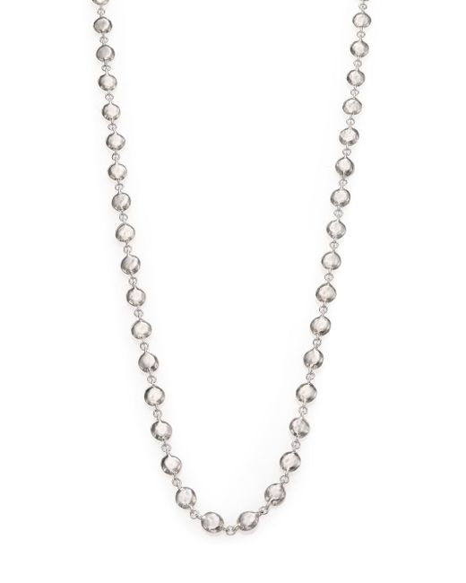 Ippolita - Metallic Glamazon Sterling Silver Flat Hammered Beaded Necklace - Lyst