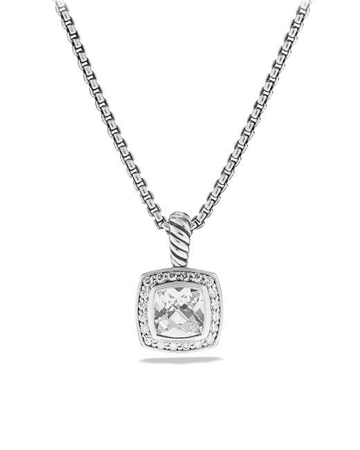 David Yurman - Metallic Petite Albion Pendant With Diamonds On Chain - Lyst
