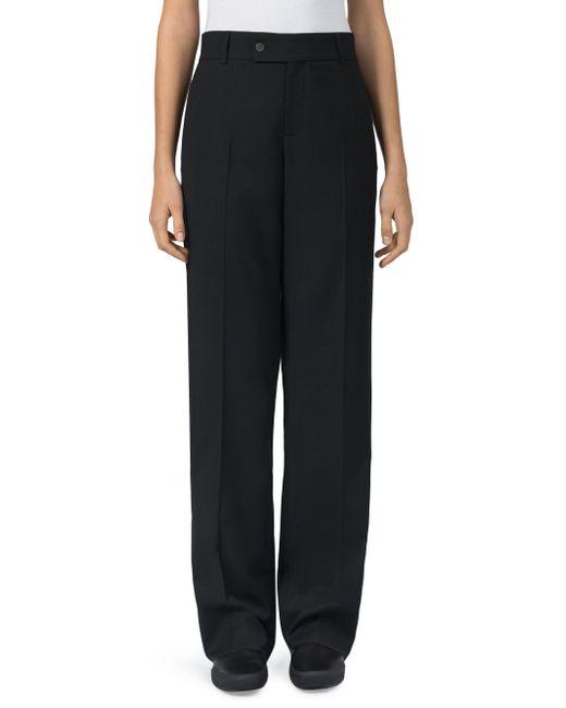 Loewe - Black Cotton Tuxedo Trousers - Lyst
