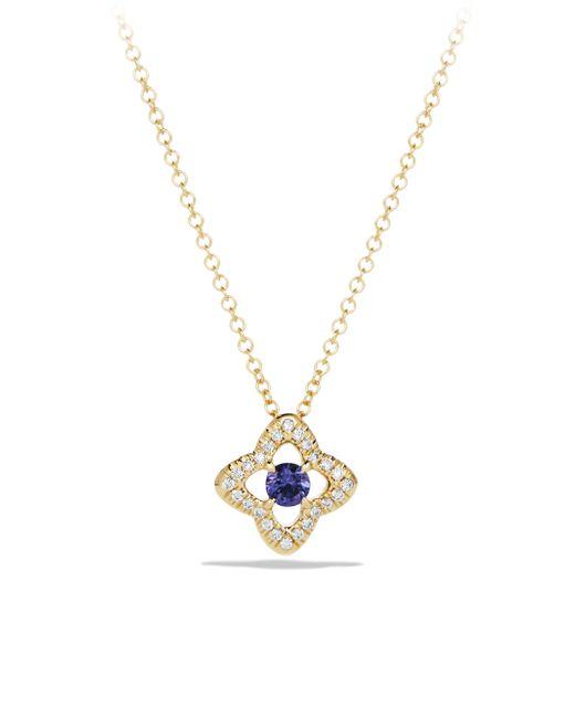 David Yurman | Metallic Venetian Tanzania & Diamond Pavé Quatrefoil Pendant Necklace | Lyst
