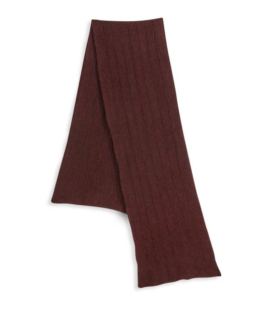 Saks Fifth Avenue - Purple Collection Knit Ribbed Scarf for Men - Lyst