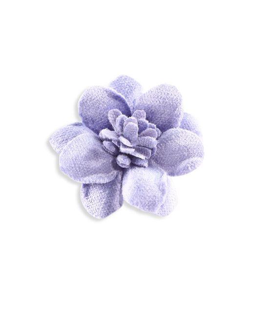 Hook + Albert - Blue Light Velvet Lapel Flower - Lyst