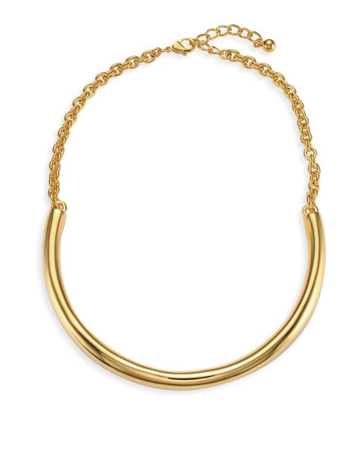 Kenneth Jay Lane - Metallic Polished Gold Bar Necklace - Lyst