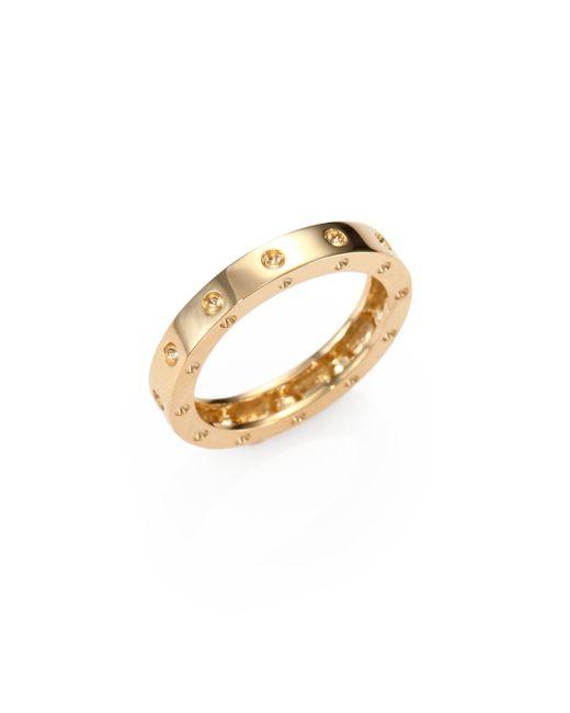 Roberto Coin | Metallic Pois Moi 18k Yellow Gold Single-row Band Ring | Lyst