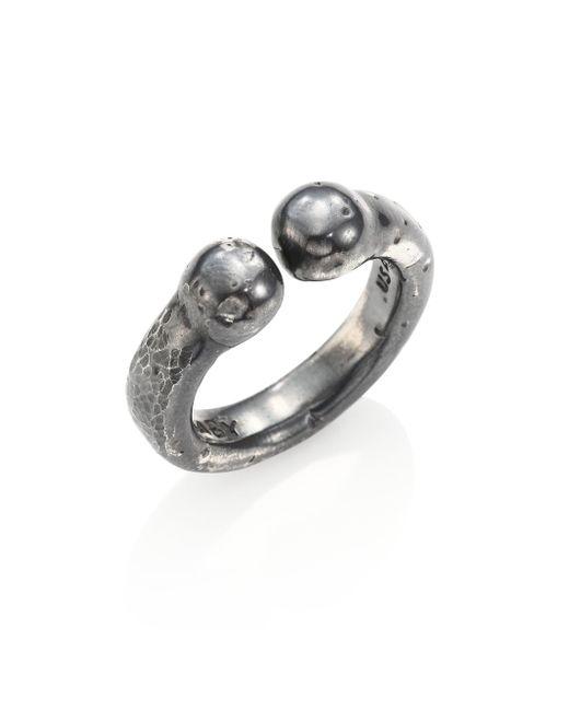King Baby Studio - Metallic Sterling Silver Bull Ring - Lyst