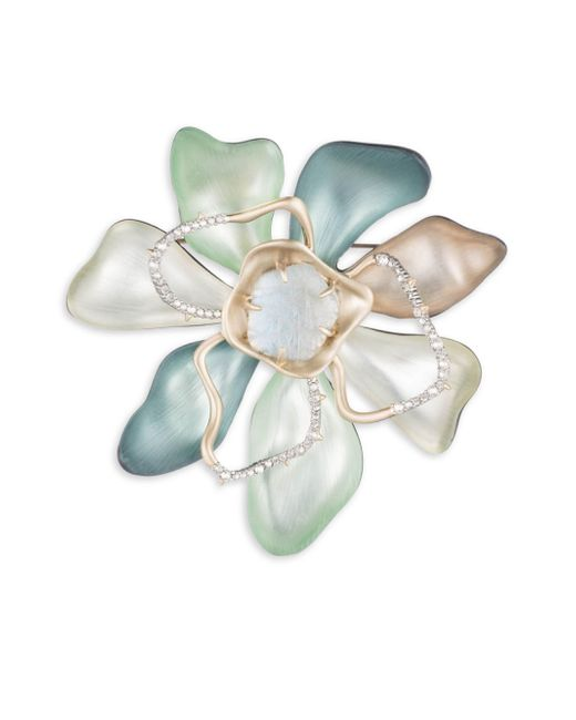 Alexis Bittar - Multicolor Roxbury Muse Abstract Color Block Flower Pin - Lyst