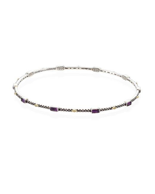 Konstantino | Multicolor Nemesis Amethyst & 18k Yellow Gold Bangle | Lyst