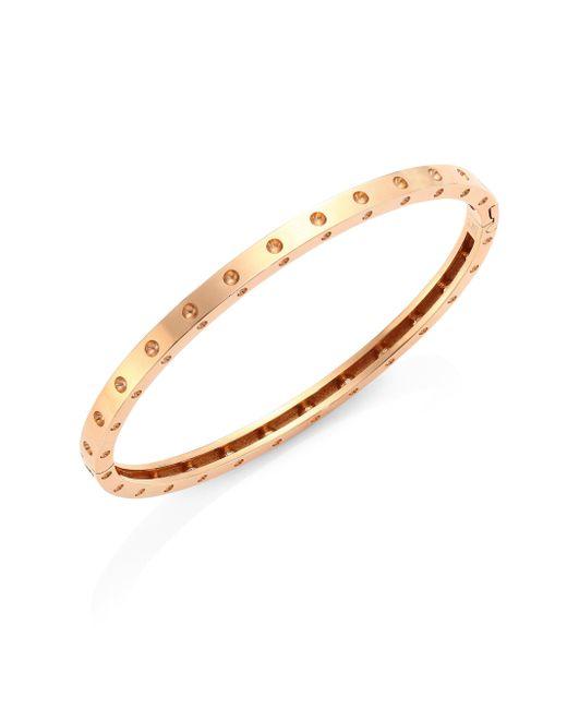 Roberto Coin | Metallic Pois Moi 18k Rose Gold Oval Bangle Bracelet | Lyst