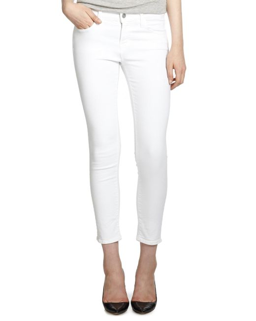 J Brand - White 835 Sateen Mid-rise Capri Jeans - Lyst