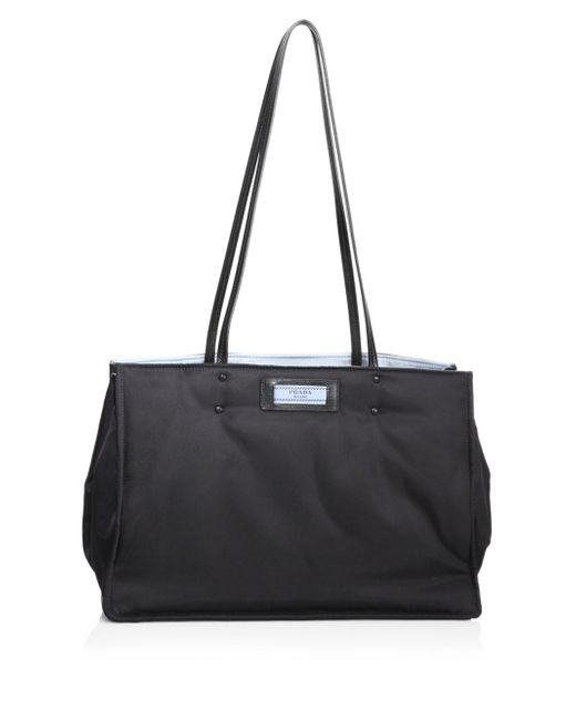 Prada | Black Nylon Shopping Bag | Lyst