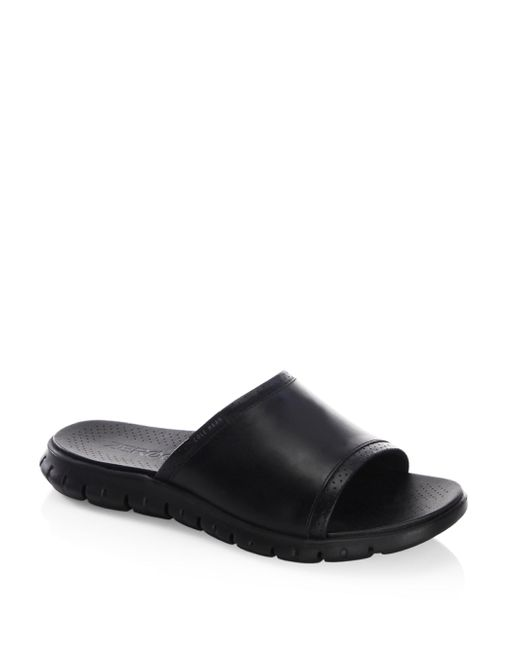 Cole Haan - Black Zerogrand Leather Strap Sandals for Men - Lyst
