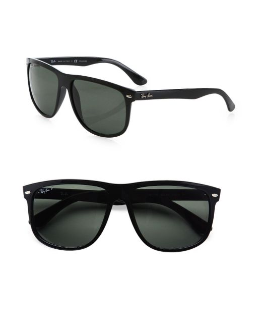 156bfeb8e5 Lyst - Ray-ban Flat-top Boyfriend Wayfarer Sunglasses in Black for Men -